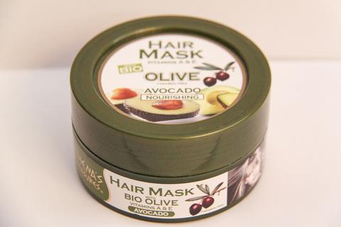 Питательная маска для волос оливковое масло и авокадо ATHENA'S TREASURES