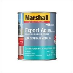 Водная эмаль для дерева и металла Marshall EXPORT Aqua (темно-коричневая)