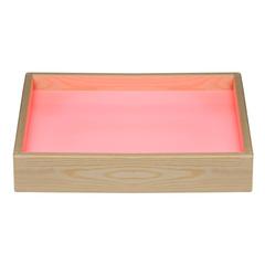Стол для рисования песком с цветной подсветкой (розовый)