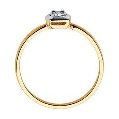 1011682- Помолвочное золотое кольцо с бриллиантом
