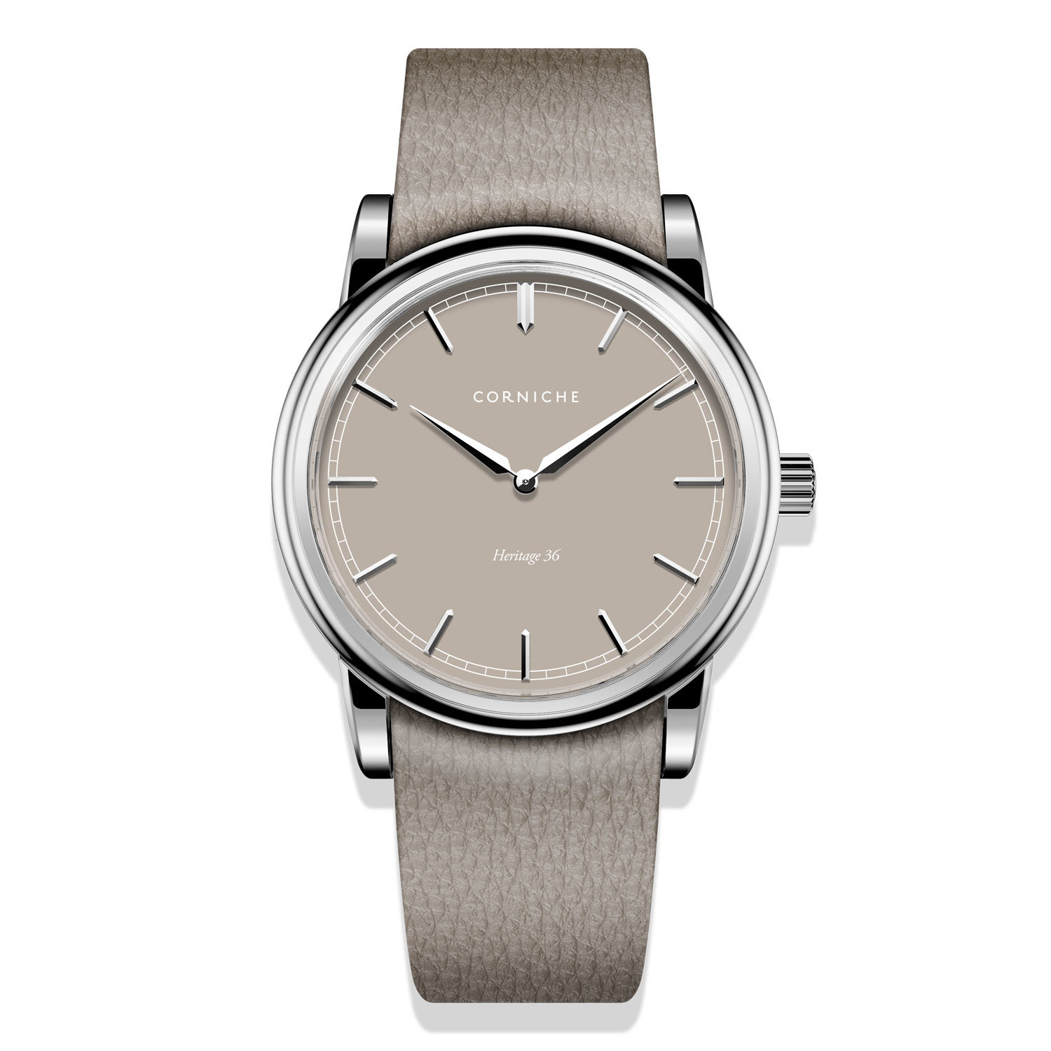 часы Corniche Heritage 36 Steel with Taupe Dial