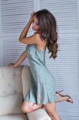 Сорочка оливковая