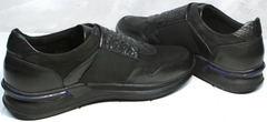Черные кроссовки с черной подошвой мужские Luciano Bellini 1087 All Black