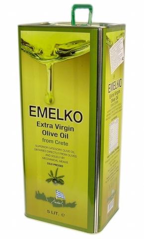 Масло оливковое Греция, первый холодный отжим, жестяная банка КОЛБАСЫ ИП БАБЕШКИНА 1л
