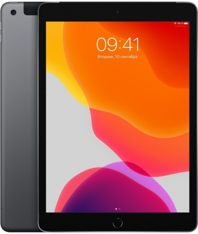 Планшет Apple iPad (2019) 128Gb Wi-Fi + Cellular (Space Gray) (MW6E2RU/A)