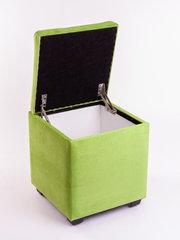 Пф-400-Я Пуфик квадратный (салатовый) с ящиком для хранения