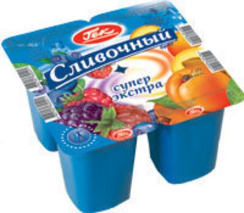 Йогурт Гек сливочный 7,5% 100гр клубника/персик-маракуйя Эрман, шт