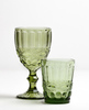 Зелёный фужер со стаканом