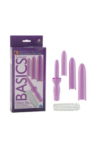 Вибратор вагинальный + 4 насадки, фиолетовый,  17,25см х 3,75см, California Exotic Novelties