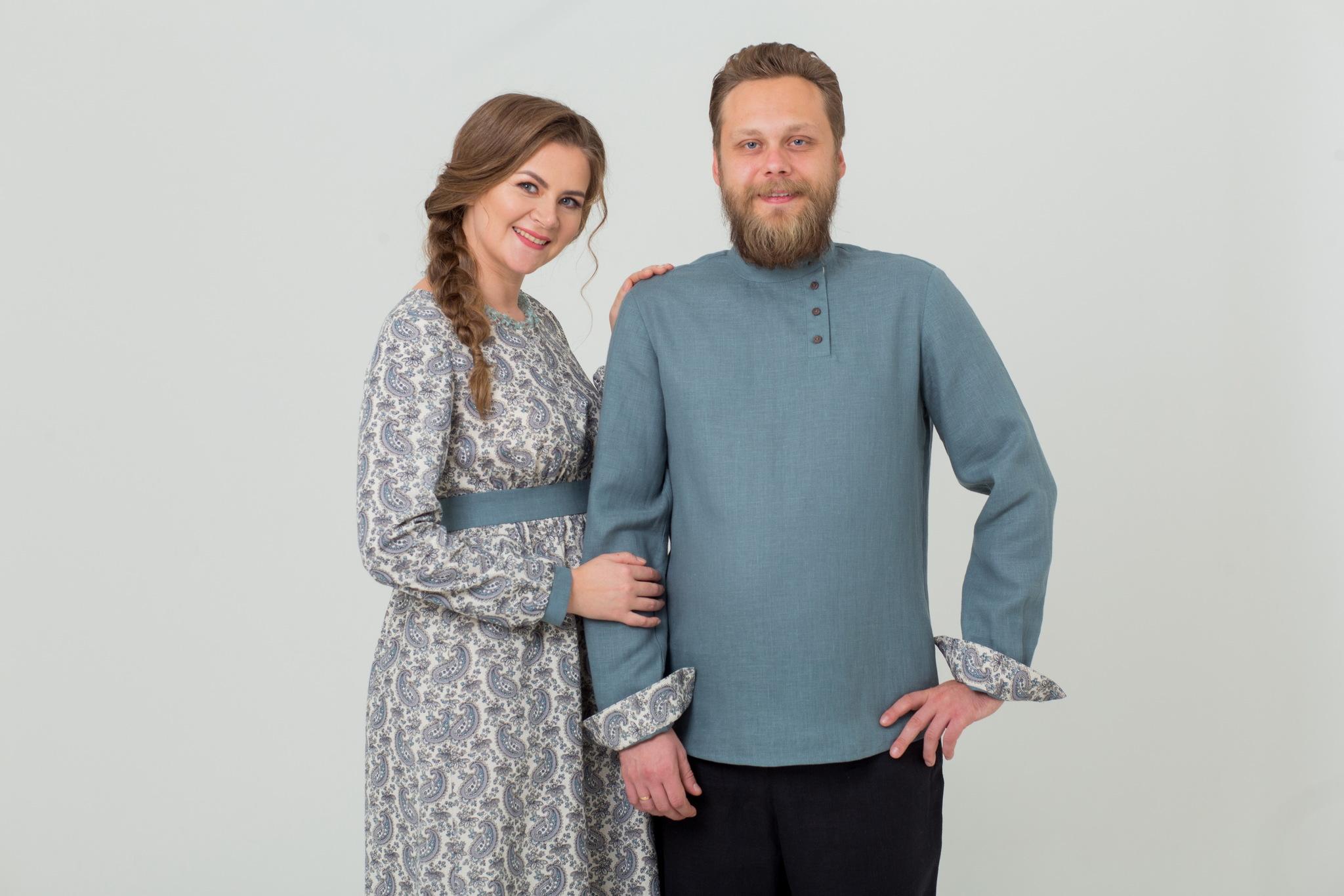 Платье льняное Славное с рубахой