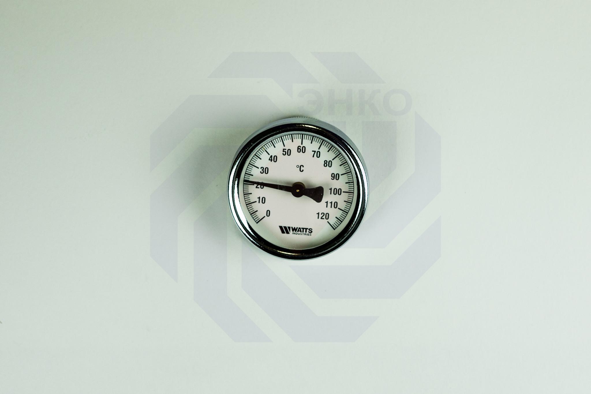 Термометр биметаллический накладной WATTS TAB (F+R810) TCM 0-120 °С 63 мм