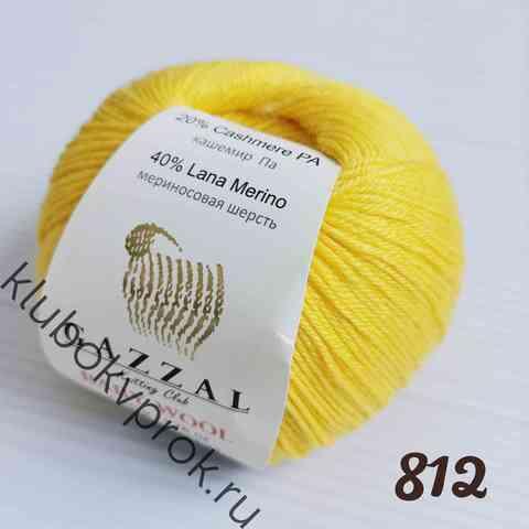 GAZZAL BABY WOOL 812, Яркий желтый