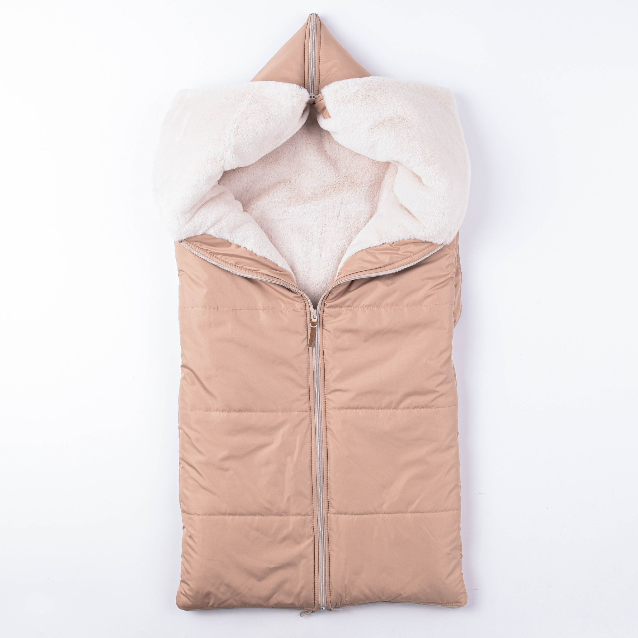 Envelope blanket with fur 0+, Heavy Cream