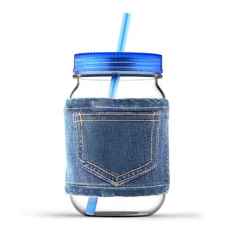 Кружка Asobu Jeans jar (0,75 литра), голубая