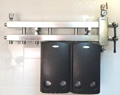 Балансировочный коллектор из нержавеющей стали - Гидрусс BMSS-60-4D с креплением