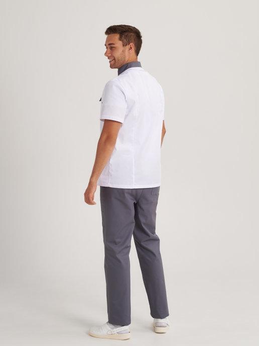 Белая медицинская мужская одежда