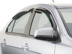 Дефлекторы окон для Chevrolet Lacetti Седан 2004-2013 breeze, темные, 4 части