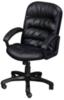 Фортуна 062 Кресло для руководителя (кожзам черный, пластиковая крестовина, подлокотники черный пластик)