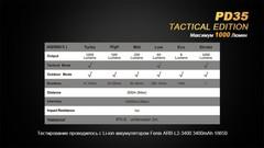 Карманный фонарь Fenix PD35 Cree X5-L (V5) TAC (Tactical Edition)