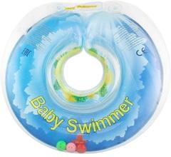 Baby Swimmer  Круг на шею  6-36 кг с погремушкой (солнечный остров) (BS11-6)
