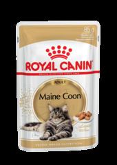 Корм для кошек породы мейн-кун, Royal Canin Maine Coon Adult, (в соусе)