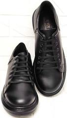 Модные женские кроссовки сникерсы на шнурках EVA collection 0721 All Black.