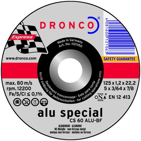 Абразивный отрезной диск Dronco СS 60 Alu 125х1,2