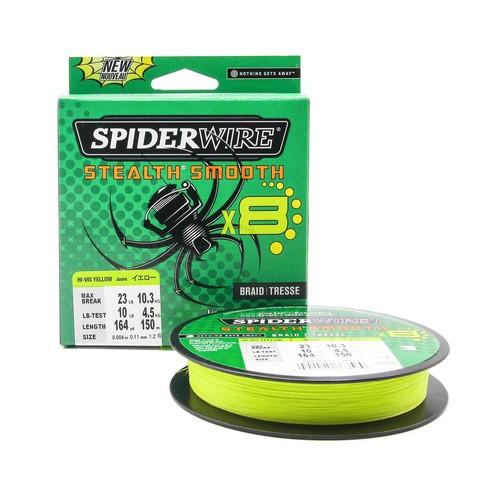 Плетеная леска Spiderwire Stealth Smooth 8 Braid Ярко-желтая 150 м. 0,11 мм. 10,3 кг.
