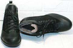 Стильные мужские зимние ботинки на цигейке Luciano Bellini 6057-58K Black Leathers & Nubuk.