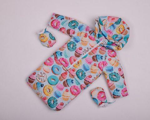 Демисезонный комбинезон тройка для малышей 0-2 года Look Пончик