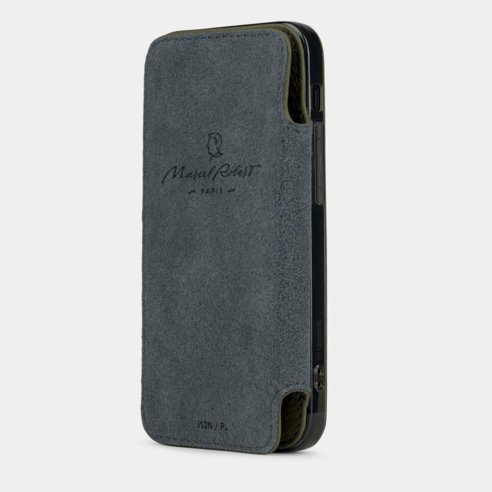 Чехол Benoit для iPhone 12 Mini из натуральной кожи теленка, зеленого цвета