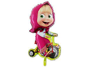 Фольгированный шар Маша на велосипеде 39