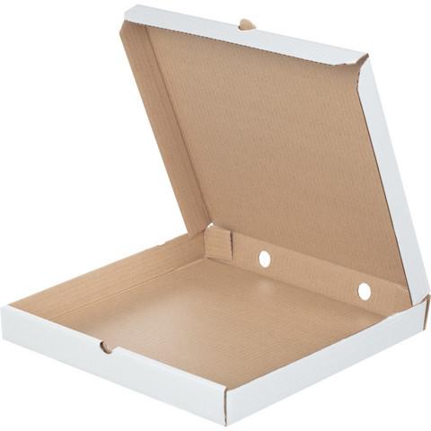 Коробка для пиццы 350x350x40 мм Т-23 беленый (10 штук в упаковке)
