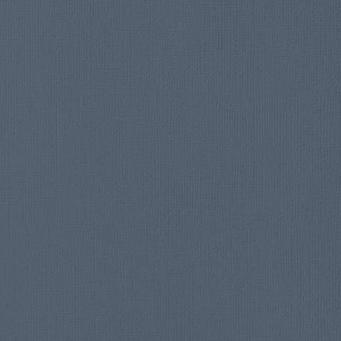 Текстурированный кардсток 30х30 American Crafts Textured Cardstock - Цвет Blueberry