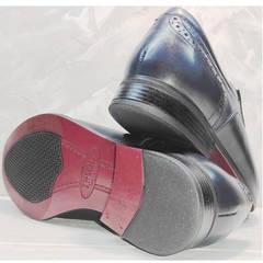Синие туфли классические мужские Ikoc 3805-4 Ash Blue Leather.