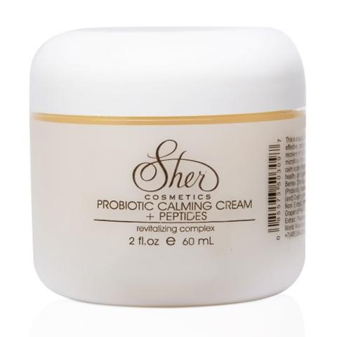 Sher Cosmetics: Успокаивающий крем с пробиотиками и пептидами для лица (Probiotic Calming Cream+Peptides), 60мл