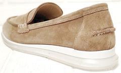 Классические лоферы. Бежевые туфли на низком каблуке Anna Lucci 2706-040 S Beige.