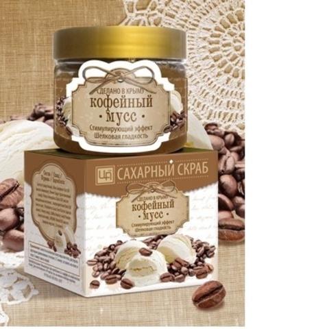 Сахарный скраб для лица и тела Кофейный мусс
