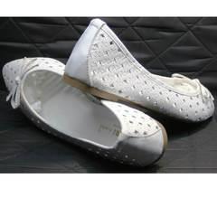 Балетки белого цвета Vasari Gloria 19Y38860-37 White.