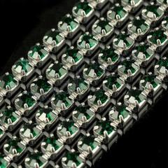 Стразовые цепи купить в Москве оптом Emerald зеленые