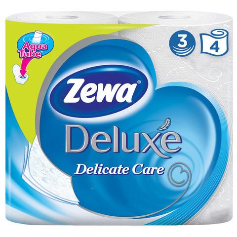 Бумага туалетная Zewa Deluxe 3-слойная белая (4 рулона в упаковке)