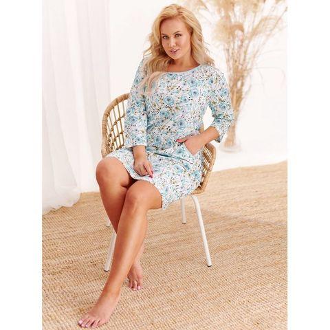 Домашнее платье Nessa (BS) голубое