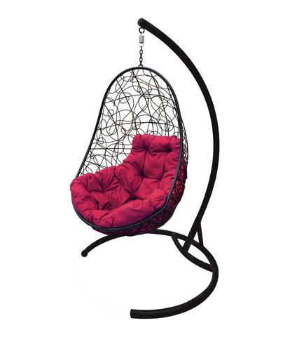 Кресло подвесное Parma black/burgundy