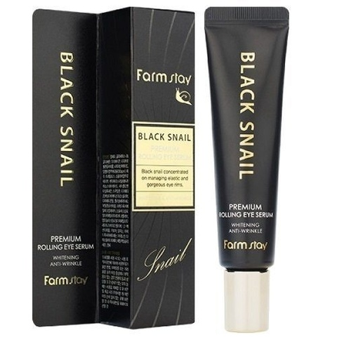Антивозрастная сыворотка-роллер для кожи вокруг глаз с муцином улитки FarmStay Black Snail Premium R