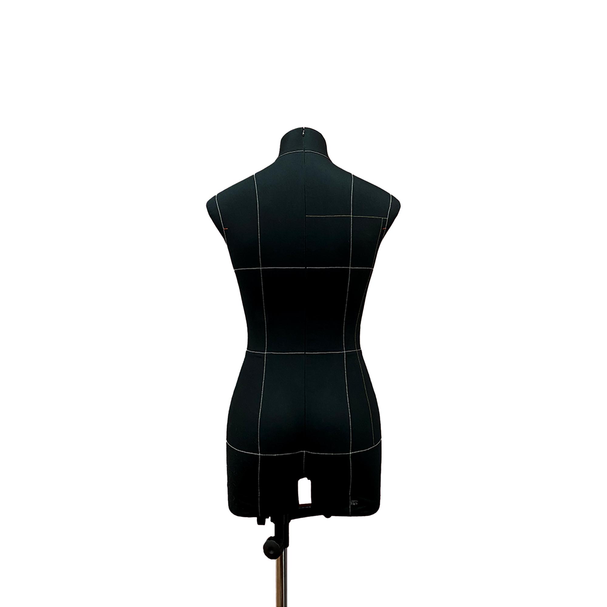Манекен портновский Моника, комплект Премиум, размер 44, тип фигуры Прямоугольник, черныйФото 2