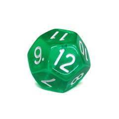 Куб D12 прозрачный: Зеленый