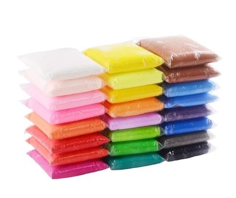 Воздушный ПЛАСТИЛИН набор 24 цветов.