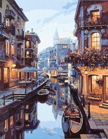 Алмазная Мозаика 40x50 Вечерняя прогулка по Венеции (арт. TC647)