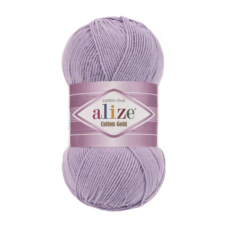 Пряжа Alize Cotton Gold лиловый 166
