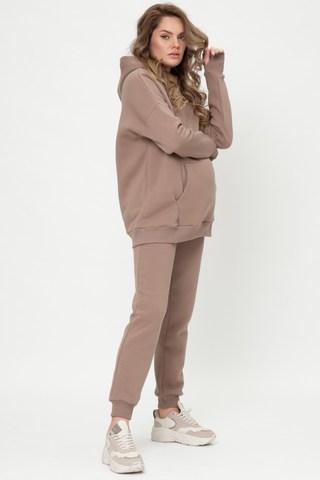 Утепленный спортивный костюм для беременных и кормящих 11998 мокко